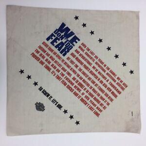 "Vintage Harley Davidson Kerchief We Don't Do Fear Screw It Let's Ride 21""x22"""