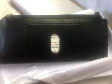 Lodis Artemis RFID Italian Leather Credit Card Case / Wallet With Zipper - Black