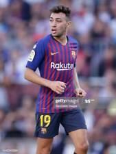 #19 MUNIR, FC BARCELONA Match Worn PLAYER home shirt used in LFP 2018-19