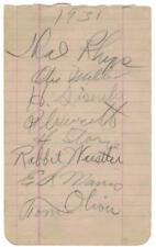ED MORRIS d.1933 Otis Miller d.1959 album page auto BAS murdered baseball player