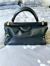 STUNNING VINTAGE BLACK LEATHER DR'S BAG / CASE