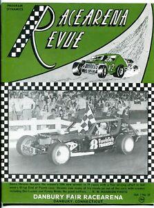 Danbury Fair Racearena Race Program September 1976