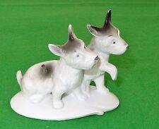 Porzellanfigur 2 Hunde Foxies Wagner & Apel Porzellanfabrik Lippersdorf DDR 1977