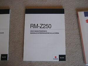 Suzuki Rm-Z 250 Uso y Manutención E, Manuale Di Preparazione Alla Corsa, 2010