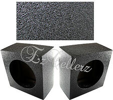 "PAIR 6.5"" SPEAKER BOX (2) ARMOR-COATED BLACK SUBWOOFER w/TERMINALS * BRAND NEW *"