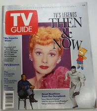 TV Guide Magazine Lucille Ball Bart Simpson July 1991 063015R2