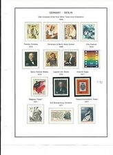 Germany Berlin Collection 1969 to 1978 on 12 Album Pages, Mint