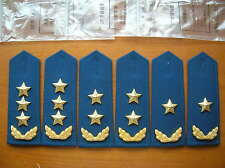 07's series China PLA Air Force General Hard Shoulder Boards,3 Pair,Set