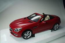 Mercedes-Benz SLK-Class 2011 Rouge Metallic Minichamps 1:18 Nouveau neuf dans sa boîte