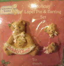 Holiday Pin & Earring Set #141860 Cherished Teddies