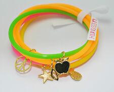 JULES SMITH 14k Gold Neon Charm School Vintage Jellies Bracelet set of 5 $35 NEW