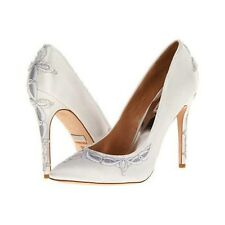 NIB Badgley Mischka Balance wedding bridal satin pump heels shoes White Lace 6,5