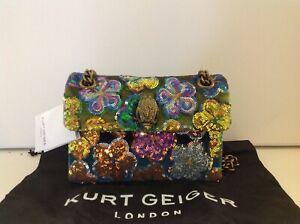 Kurt Geiger Kensington Mini Floral Sequin Multicolor Fabric Cross Body Bag