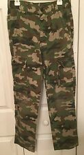 GS GREEN CAMOUFLAGE MILITARY PANTS - YOUTH SIZE 12