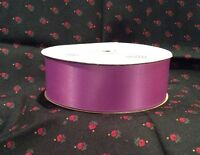 "1 1/2"" wide Double faced satin ribbon grape 50 yards"