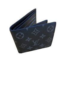 Louis Vuitton Monogram Eclipse Bifold Wallet Multiple Men's