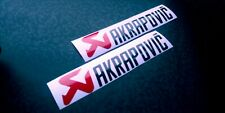 Akrapovic Motorrad Auspuff Aufkleber Rot / Schwarz Folie Sticker 200 x 40 mm