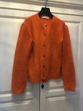 Marni Strickjacke Orange 38-40 // M-L Wolle Oversized Cardigan Hermés Orange