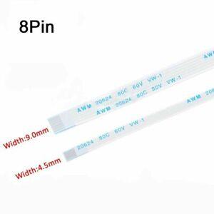 8Pin FFC/FPC Flexible Flat Cable Ribbon 0.5/1.0mm Pitch AWM 20624 Length 6-40cm