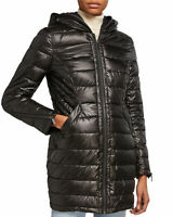 French Connection Women's Jacket Black Size Small S Softshell Puffer $280 #295