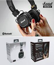 Marshall Major II Bluetooth On Ear Wireless Headphones - Black