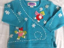 Girls 24 Months Ice Skating Blue Sweater NEW Boutique Nick Nack Patty Wack Snow