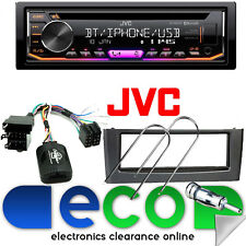 Fiat Grande Punto JVC Auto Stereo CD MP3 USB Bluetooth & Grigio Volante Kit