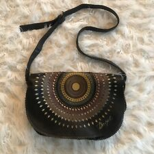 Desigual Boho Crossbody Printed Black Saddle Bag