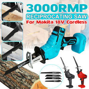 Cordless Electric Reciprocating Saw Saber Wood Cutting Kit For Makita Battery 18