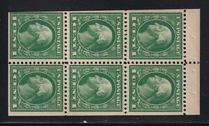 405b Booklet Pane VF OG lightly hinged nice color cv $60 ! see pic !