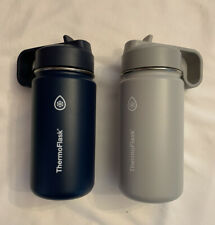 Thermoflask Kids 14 oz Stainless Steel Insulated Water Bottle 2-pack Blue / Gray