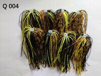 8 Bundles 50 Strands Silicone Skirts Fishing Tackle Buzz Spinner Jig Bass Q 004