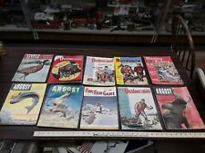 vintage lot of 12 misc hunting fishing outdoor magazines from 40s and 50s