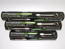 "(Lot of 3) Pittsburgh Pro TORQUE WRENCH - (1/2"")(3/8"")(1/4"") CLICK-STOP SET-of-3"
