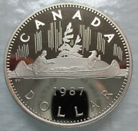 1987 CANADA VOYAGEUR PROOF ONE DOLLAR COIN