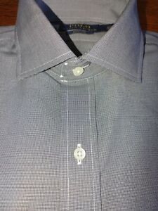 Polo Ralph Lauren Mens Dress Shirt Houndstooth Easy Care Gray no pony button up