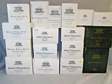 15 Dept 56 Heritage Village Dicken Village Series Buildings in Boxes with Lights