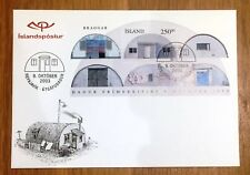 Iceland Post Official Illustrated FDC 2003.10.09. Houses Barracks - Block