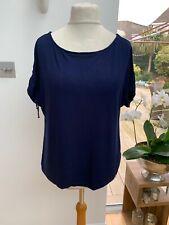 Lauren Ralph Lauren Navy Stretch T Shirt Top Si3 XL