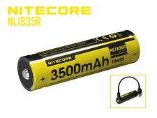 NiteCore 18650 -3500mAh, Li-Ionen 3,7V - 3,6V -  mit USB Lademöglichkeit NL1835R
