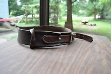 brown leather horse collar sized for horse