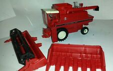 1/64 ERTL custom international 1460 rwa combine farm toy with both heads.