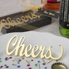 'CHEERS' Gold Metal Bottle Opener Favour