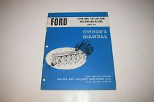 Ford Series 118 Four And Five Bottom Moldboard Plows Owners Manuals