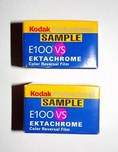 2 Kodak Professional E100VS Ektachrome Color Reversal Film 135 36 EXPIRED 4/2001