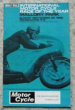 MALLORY PARK 25 Sep 1966 INTERNATIONAL MOTOR CYCLE RACE OF THE YEAR Programme