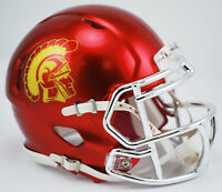 USC TROJANS CHROME RIDDELL SPEED FOOTBALL MINI HELMET 8039141