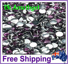 Rhinestones Resin FB 4mm ~ Dark Amethyst~ 500 Pack By Gypsy Bling ~ Free Post