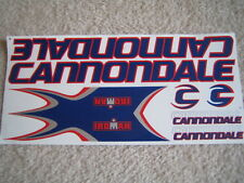 Cannondale Stickers  Set  Dark-Blue, Red  & Silver.