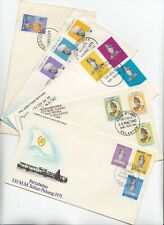 MALAYSIA 1959/1980 5X different SULTAN Coronation official illustrated FDCs